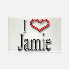 I Heart Jamie Rectangle Magnet