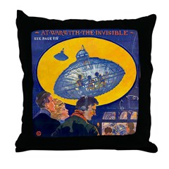 War...Invisible Throw Pillow