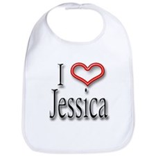 I Heart Jessica Bib