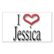 I Heart Jessica Rectangle Decal