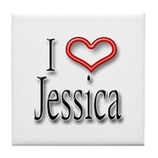 I Heart Jessica Tile Coaster