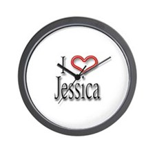 I Heart Jessica Wall Clock