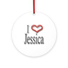 I Heart Jessica Ornament (Round)