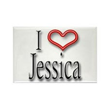 I Heart Jessica Rectangle Magnet