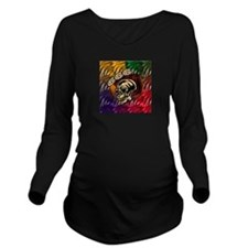 Graphic Embroidery Long Sleeve Maternity T-Shirt