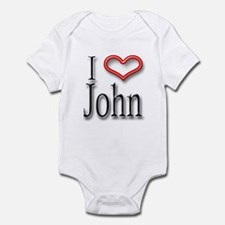 I Heart John Infant Bodysuit