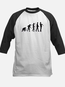 evolution of man clarinet player Baseball Jersey