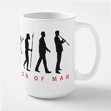 evolution of man clarinet player Mugs