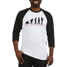 evolution of man clarinet player Baseball Jersey