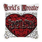 GreatestFracturedTemptation.png Woven Throw Pillow