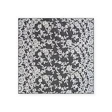 """Black and White Lace Square Sticker 3"""" x 3"""""""