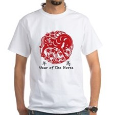 Paper Cut Chinese Year of The Horse Design Shirt