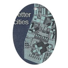 City Stamp Oval Ornament