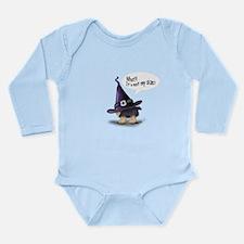 ByCatiaCho Yorkie Halloween Long Sleeve Infant Bod