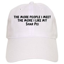 Shar Pei: people I meet Baseball Cap