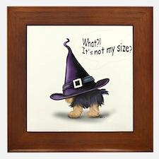 ByCatiaCho Yorkie Halloween Framed Tile