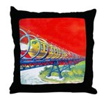 Electric Flyer Throw Pillow