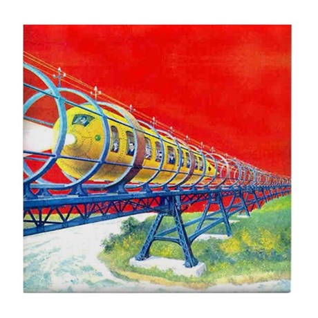 Electric Flyer Tile Coaster