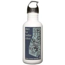City Stamp Water Bottle