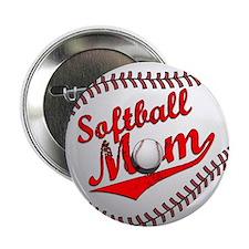 """Softball Mom 2.25"""" Button"""