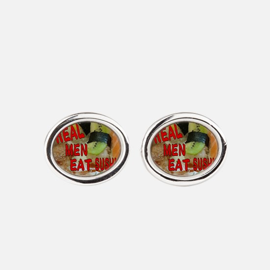 Unique Real food Oval Cufflinks