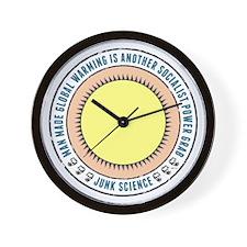 Junk Science Power Grab Wall Clock