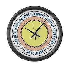 Junk Science Power Grab Large Wall Clock
