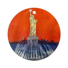 Electric Liberty Ornament (Round)