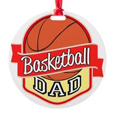Basketball Dad Round Ornament