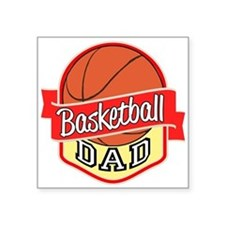 "Basketball Dad Square Sticker 3"" x 3"""