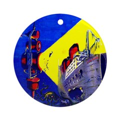Electric Submarine Camera Ornament (Round)