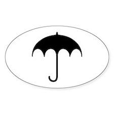 Umbrella Symbol Oval Decal