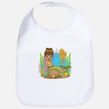 Surfin Girl Owl Bib