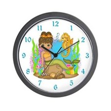 Mermaid and Friend Wall Clock