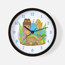 Mermaid and Friend Wall Clock