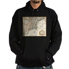 New England Ancient Map (1747) Hoodie