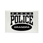 Proud Police Grandpa Rectangle Magnet