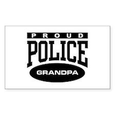 Proud Police Grandpa Rectangle Decal