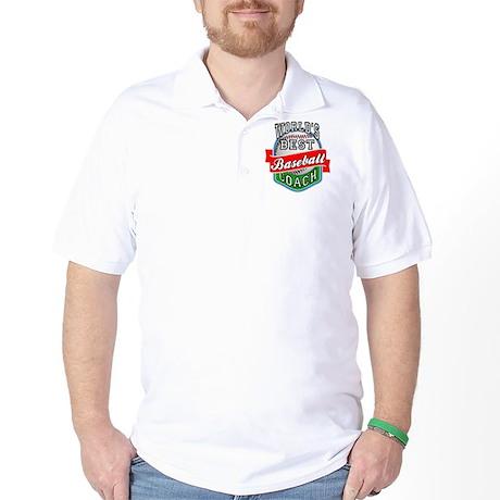 World's Best Baseball Coach Golf Shirt