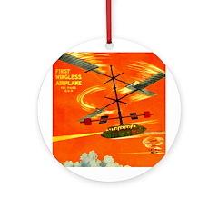 Wingless Airplane Ornament (Round)