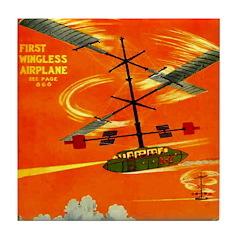 Wingless Airplane Tile Coaster