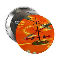 """Wingless Airplane 2.25"""" Button (100 pack)"""