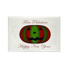Free Palestine 'Pumokin' New Rectangle Magnet