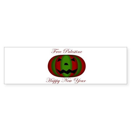 Free Palestine 'Pumokin' New Bumper Sticker