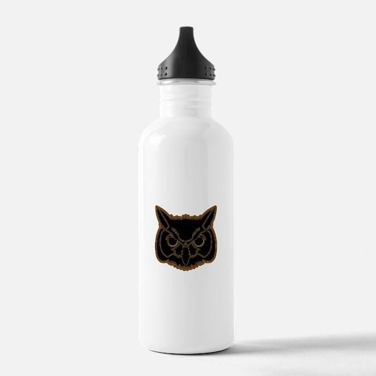 owl head 01 Water Bottle