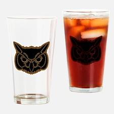 owl head 01 Drinking Glass