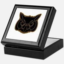 owl head 01 Keepsake Box
