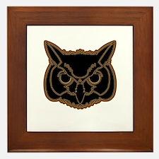 owl head 01 Framed Tile