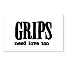Grips Need Love, too Rectangle Decal