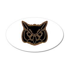 owl head 01 Wall Decal